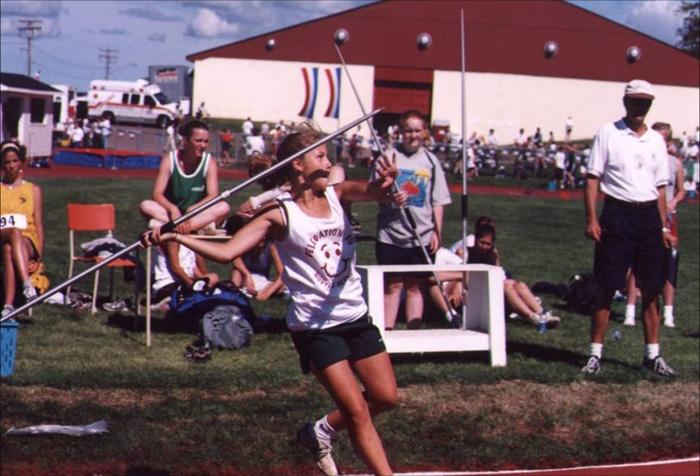 1999 sport athletisme lancer javelot fille