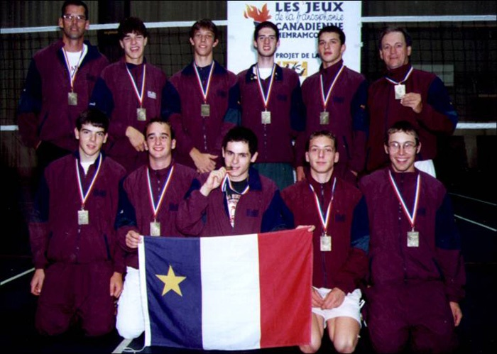 1999 sport volleyball gars medaille or acadie
