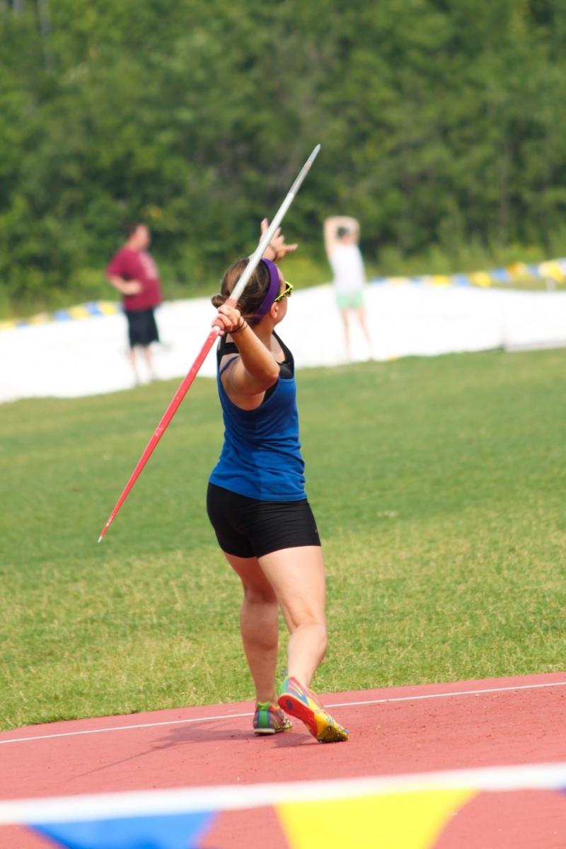 2011 athlétisme sport lancer javelot fille